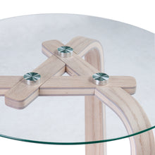 Load image into Gallery viewer, Anwick Round Glass-Top End Table  -  CK1094002
