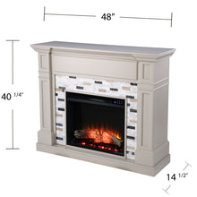 Load image into Gallery viewer, Birkover Electric Fireplace w/ Marble Surround  -  FR1096059