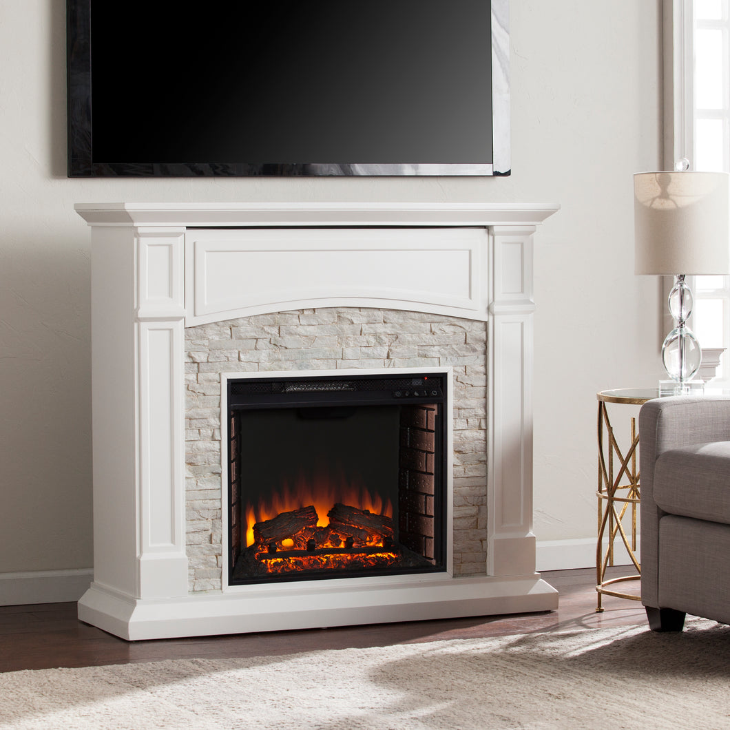 Seneca Electric Fireplace - White   -  FE9362