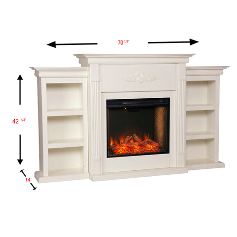Image of Tennyson Alexa Smart Fireplace - Ivory