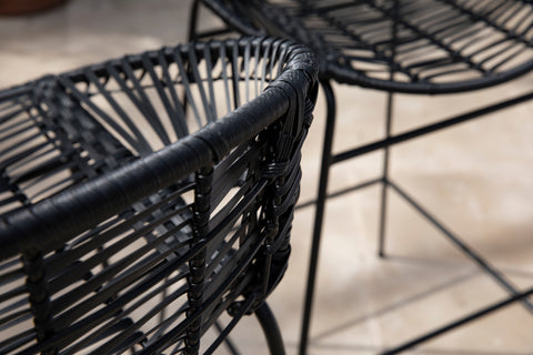 Image of Caltaro Pair of faux Rattan Outdoor Stools