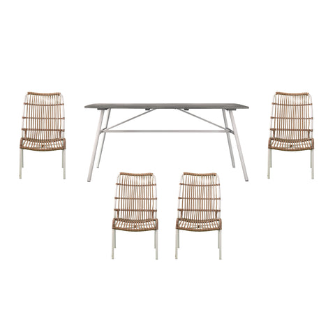 Image of Longino Outdoor Dining Set – 5pc