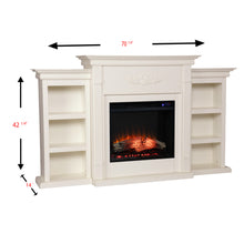 Load image into Gallery viewer, Tennyson Bookcase Electric Fireplace  -  FR8544
