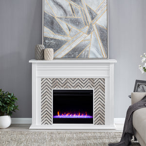 Hebbington Color Changing Fireplace