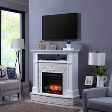 Load image into Gallery viewer, Jacksdale Electric Media Fireplace w/ Faux Stone  -  FR9365