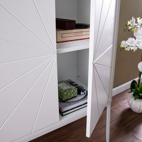 Image of Zetherdale Double-Door Storage Cabinet - White