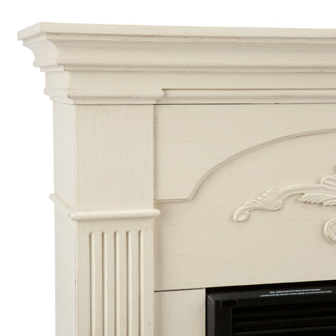 Image of Sicilian Harvest Electric Fireplace - Ivory