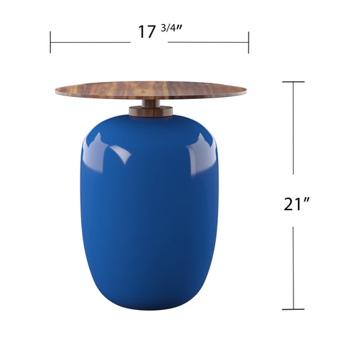 Image of Kenova Round Outdoor Accent Table