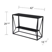 Load image into Gallery viewer, Argall Long Glass-Top Console Table  -  CK1023903