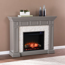 Load image into Gallery viewer, Dakesbury Faux Stone Electric Fireplace  -  FR1095959