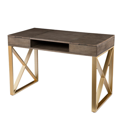 Image of Bardmont Two-Tone Desk w/ Storage