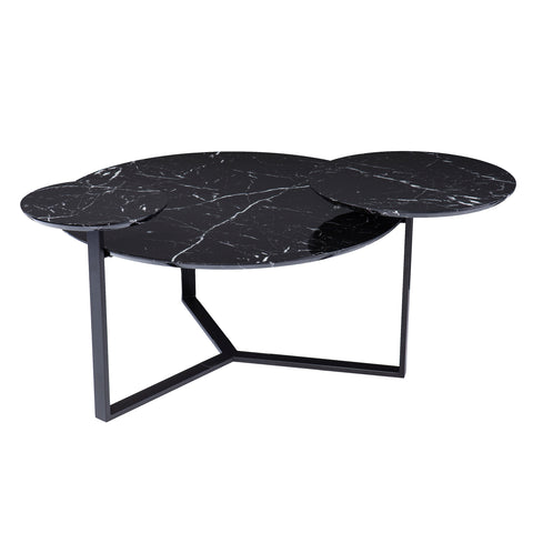 Saxelby Faux Marble Cocktail Table