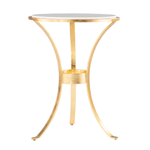 Image of Fordoche Round Accent Table - Gold