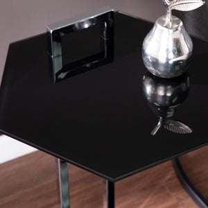 Corxon Glass-Top Side Table