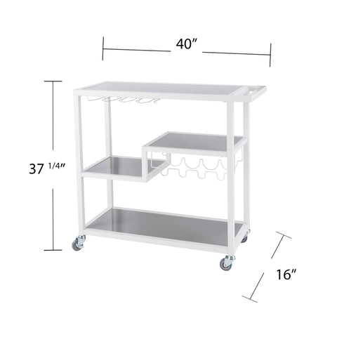 Image of Zephs Bar Cart - White