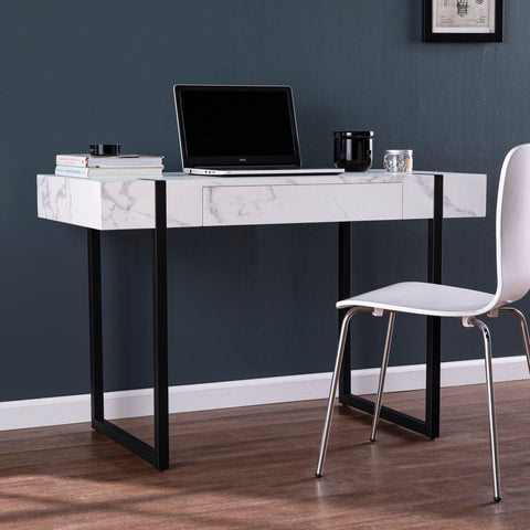 Rangley Modern Faux Marble Desk