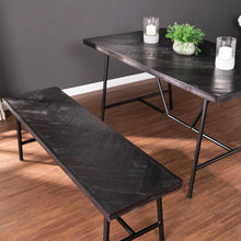 Load image into Gallery viewer, Halsguard Reclaimed Wood Dining Table and Bench  -  DN1086065