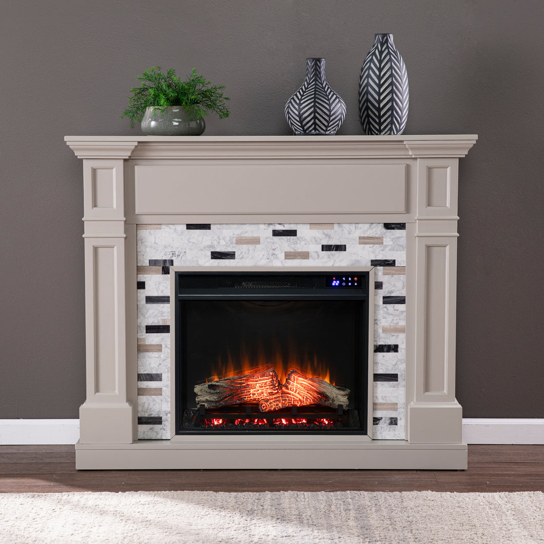 Birkover Electric Fireplace w/ Marble Surround  -  FR1096059