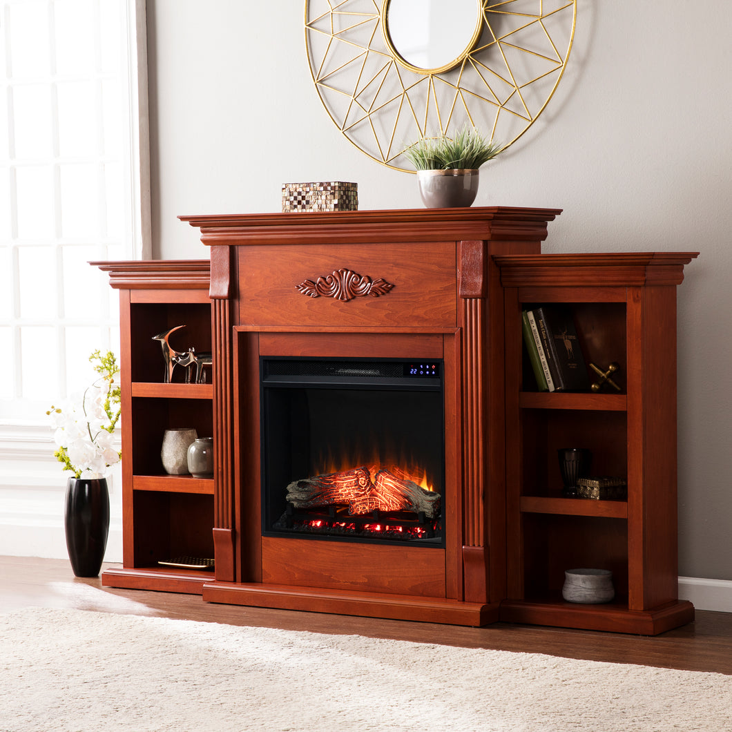 Tennyson Bookcase Electric Fireplace  -  FR8547