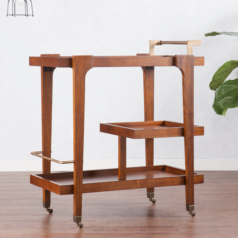 Image of Zhori Midcentury Modern Bar Cart