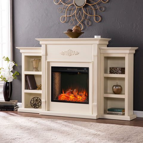 Tennyson Alexa Smart Fireplace - Ivory