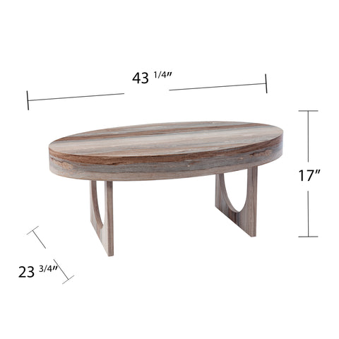 Image of Chadkirk Faux Marble Cocktail Table
