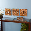 Magnolia Wall Panel 3pc Set - Gold