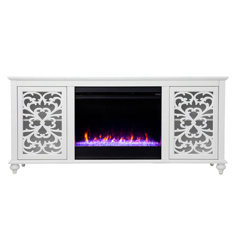 Image of Maldina Color Changing Fireplace w/ Media Storage