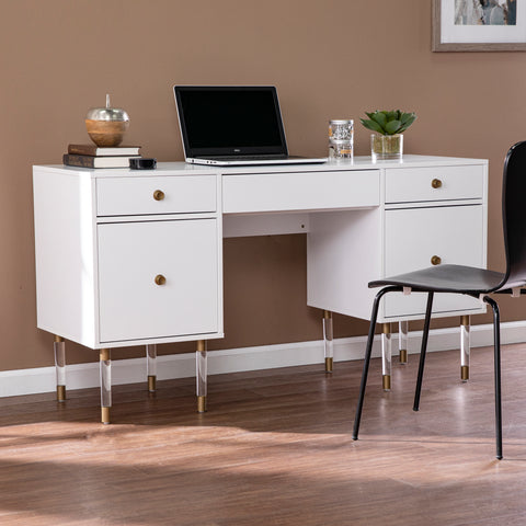 Image of Helston White Writing Desk