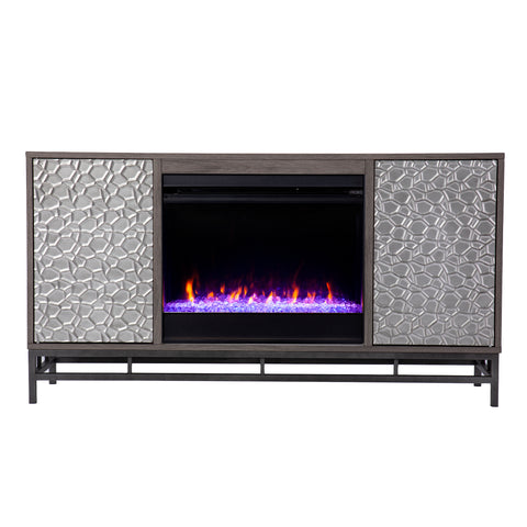 Image of Hollesborne Color Changing Fireplace w/ Media Storage