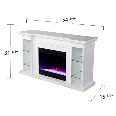 Henstinger Color Changing Fireplace w/ Bookcase