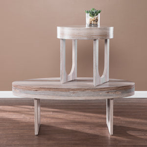 Chadkirk Faux Marble Cocktail Table