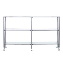 Load image into Gallery viewer, Jaymes Metal/Glass 3-Tier Console Table/Media Stand - Silver  -  CM0771