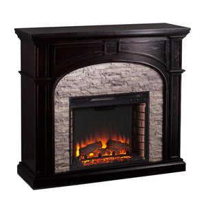 Tanaya Electric Fireplace - Ebony