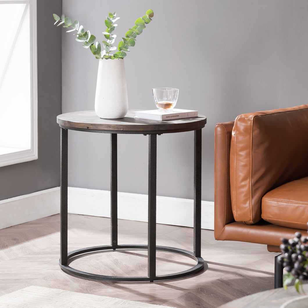 Landsmill Round Industrial End Table  -  CK2682