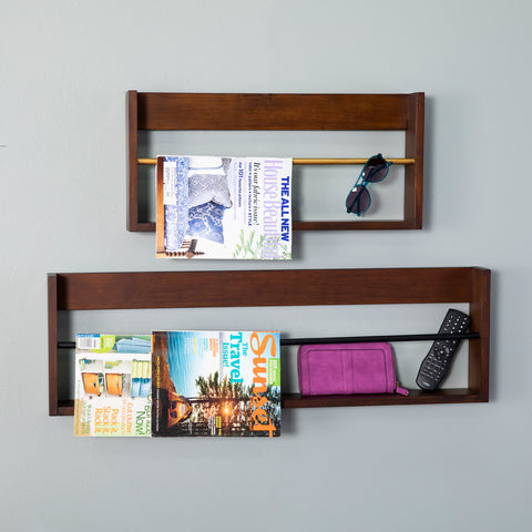 Achaz Wall Shelves – 2pc Set