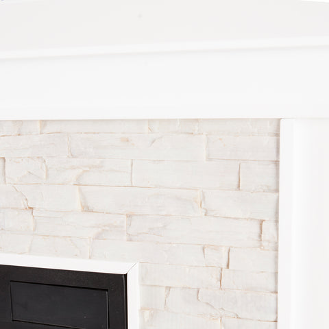 Image of Canyon Heights Electric Fireplace - White