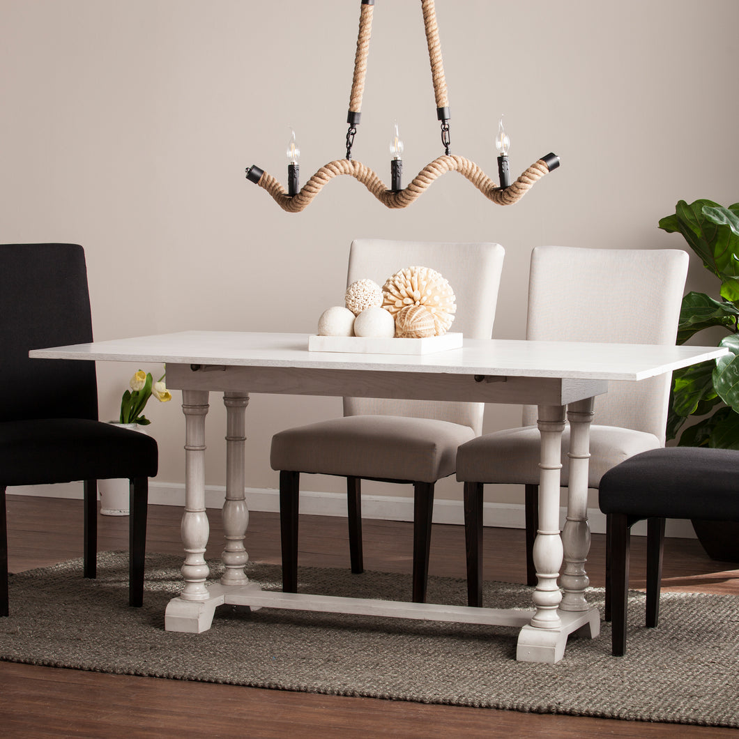 Edenderry Console to Dining Table - White  -  DN0894