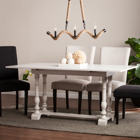 Edenderry Console to Dining Table - White
