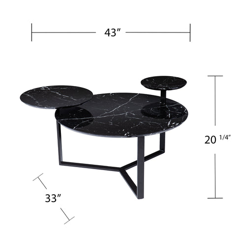 Image of Saxelby Faux Marble Cocktail Table