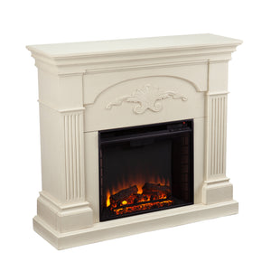 Sicilian Harvest Electric Fireplace - Ivory