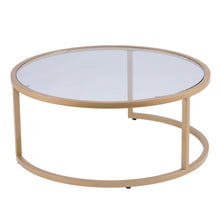 Load image into Gallery viewer, Evelyn Glam Nesting Cocktail Table 2pc Set – Gold  -  CK4290