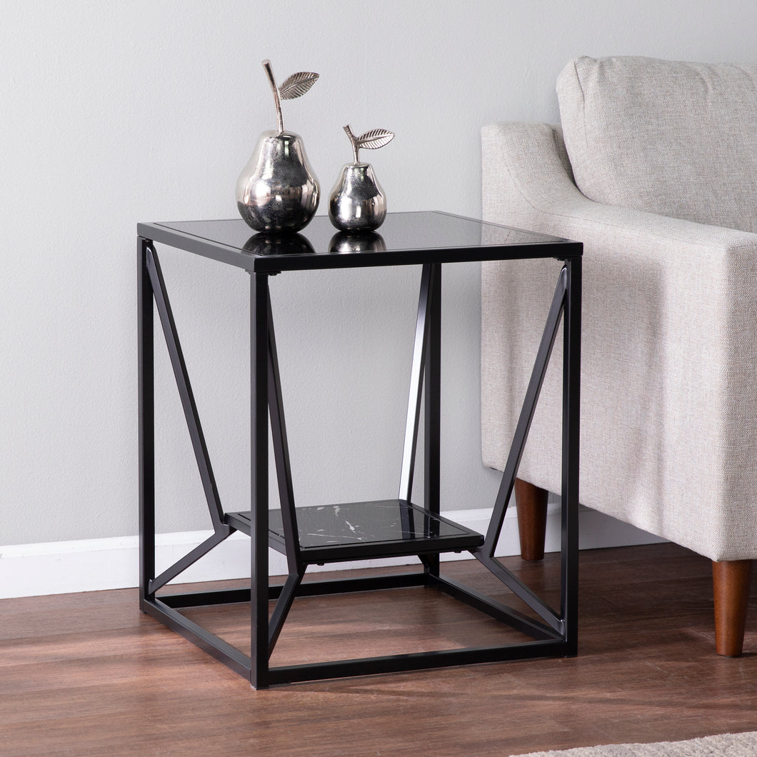 Argall Square Glass-Top End Table  -  CK1023902