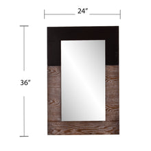 Load image into Gallery viewer, Wagars Mirror - Burnt Oak/Black  -  WS4691