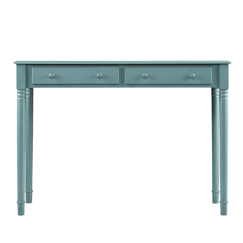 Image of Janice 2-Drawer  Writing Desk - Green