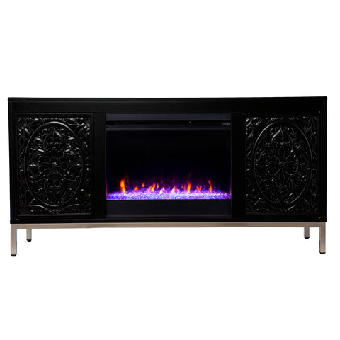 Winsterly Color Changing Fireplace Console w/ Media Storage