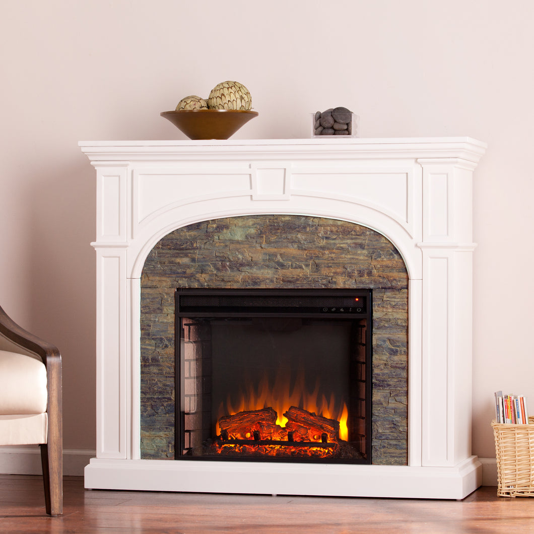 Tanaya Electric Fireplace - White  -  FE9624