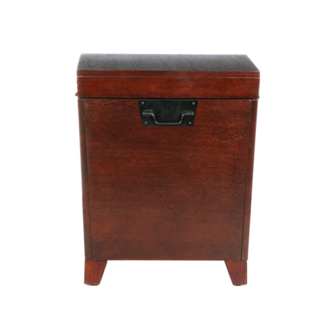 Image of Pyramid Trunk End Table - Espresso