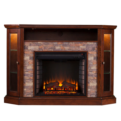 Image of Redden Corner Electric Fireplace - Espresso