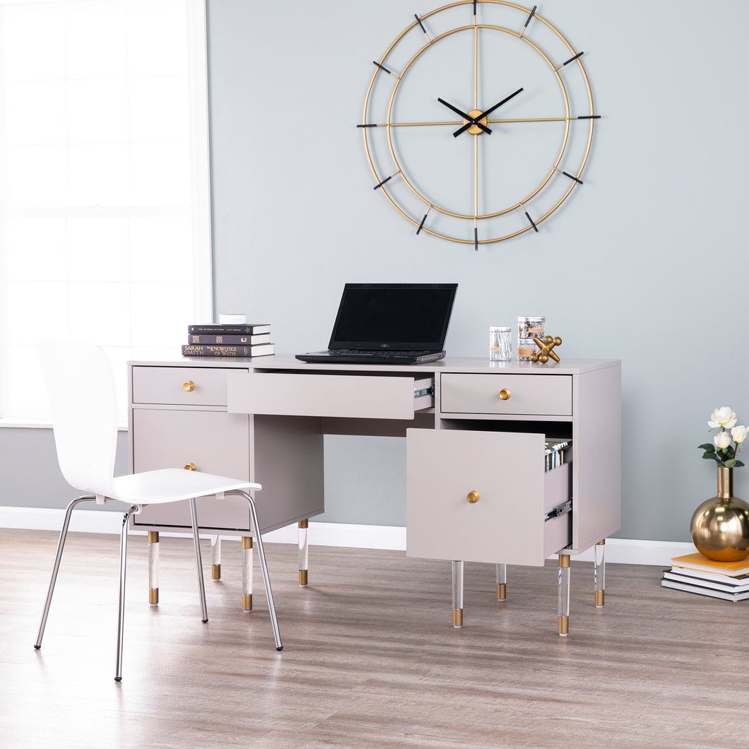 Helston Gray Writing Desk  -  HO1820